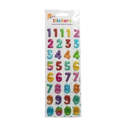 Bright Pop Up Number Stickers (STA2939OB)