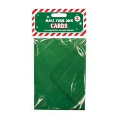 Christmas Cards Craft Set (15 Pack) - Green (XMA1793)