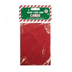 Christmas Cards Craft Set (15 Pack) - Red (XMA1793)
