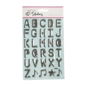 Foil Pop Up Alphabet - Silver (STA2942OB)