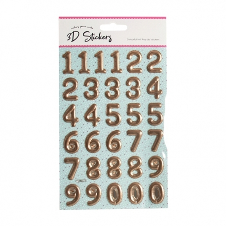 Foil Pop Up Numbers - Copper (STA2942OB)