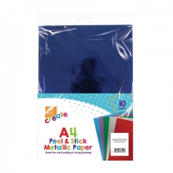 A4 Adhesive Craft Paper - Metallic (U-83457)