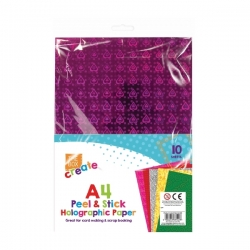A4 Adhesive Craft Paper - Holographic (STA3142)
