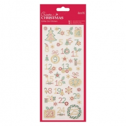 Glitter Dot Stickers - Christmas Numbers (PMA 818926)