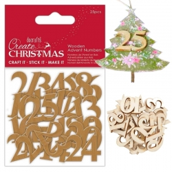 Wooden Advent Numbers 25pcs (PMA 359929)