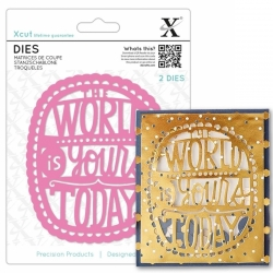Xcut Dies - The World Is Yours 2pcs (XCU 504078)