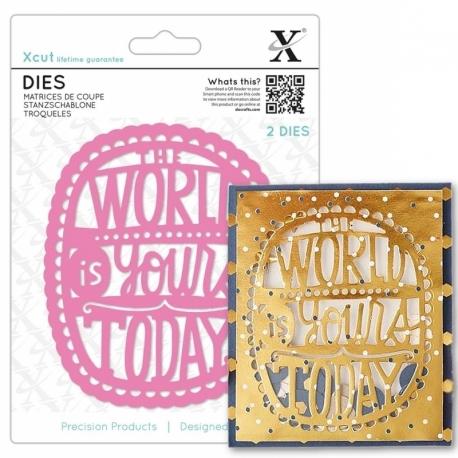 Xcut Dies - The World Is Yours 2pcs (XCU 504078)