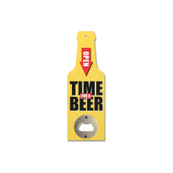 Novelty Wooden Bottle Opener - Time for a Beer (GIF3361)
