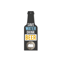 Novelty Wooden Bottle Opener - Save Water Drink Beer (GIF3361)