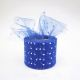 Tulle Ribbon Roll with Sequins - Royal Blue (5cm x 22m)