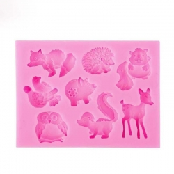 Small Silicone Mould - Woodland Animals