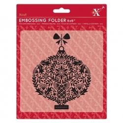 "6 x 6"" Xcut Embossing Folder - Foliage Bauble (XCU 515929)"