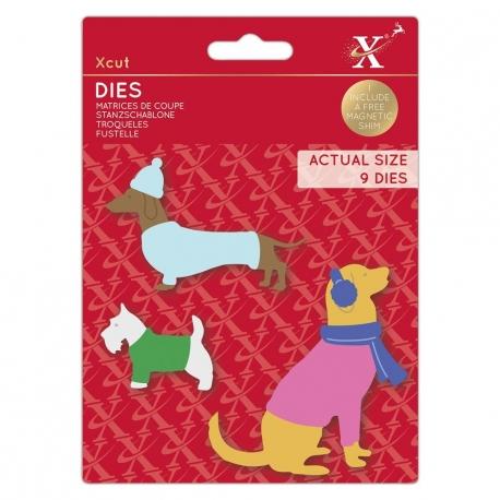 Xcut Dies - Winter Dogs 9pcs (XCU 503518)