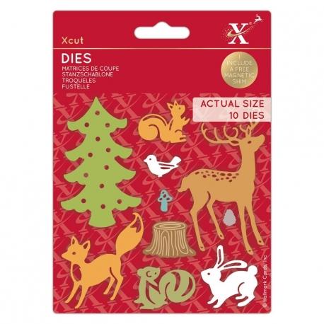 Xcut Dies - Woodland Animals 10pcs (XCU 503519)