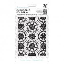 A6 Xcut Embossing Folder - Ornate Foliage (XCU 515920)