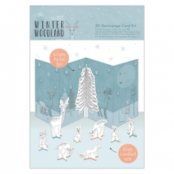 3D Decoupage Card Kit - Winter Woodland (PMA 169958)