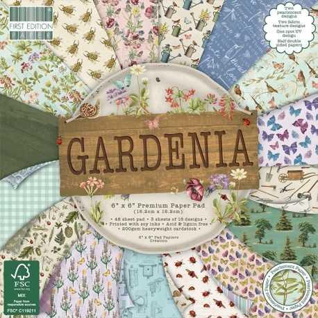 First Edition 6 x 6 Paper pad - Gardenia (FEPAD205)