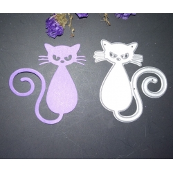 Printable Heaven die - Spiral Cat (1pc)
