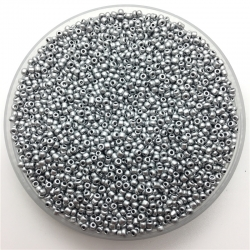 2mm Seed Beads - Matt Silver (1000pcs)