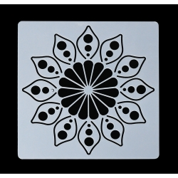 13 x 13cm Reusable Stencil - Flower Mandala (1pc)