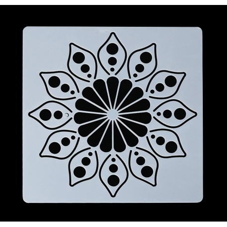 13 x 13cm Reusable Stencil - Flower Mandala (1pc)