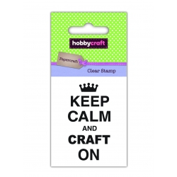 Hobbycraft Clear Stamp - Keep Calm & Craft (50264HC)