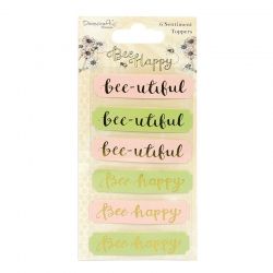 Dovecraft Bee Happy Sentiment Toppers (DCTOP048)
