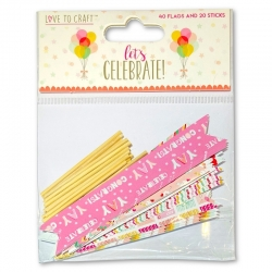 Love to Craft Let's Celebrate Garland Flags (LCTOP007)