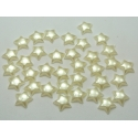 Flat-back Pearl Stars, solid - Ivory (100pcs)
