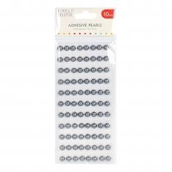 Simply Creative 10mm Pearls 88 Pack - Silver (SCDOT049)