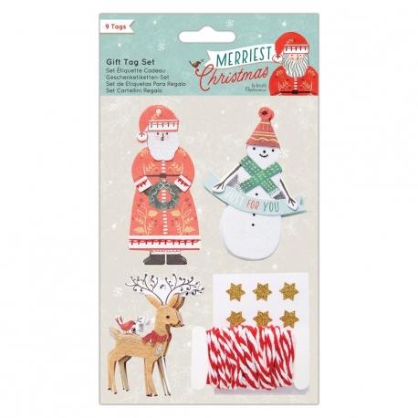 3D Gift Tag Set (9pcs) - Merriest Christmas (PMA 174958)