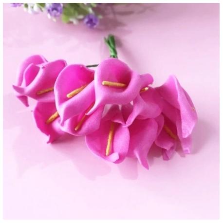 Foam Calla Lilies - Fuchsia (Bunch of 12)