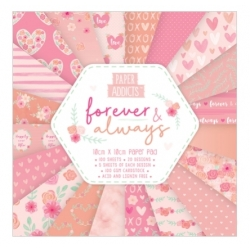 Paper Addicts Forever & Always 10x10cm Paper Pad (PAPAD009)