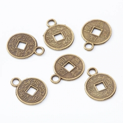 Metal Charms - Chinese Coins (30)