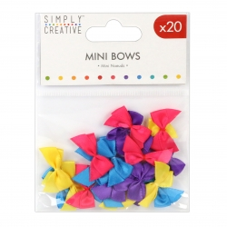 Simply Creative Mini Bows - Brights (SCRBN001)