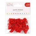 Simply Creative Satin Roses - Red (SCFLW009)