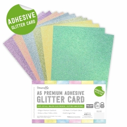 A5 Adhesive Glitter Sheets Pastel (DCGCD049)