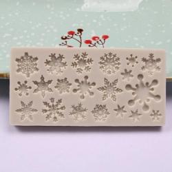 Small Silicone Mould - Multi Snowflakes