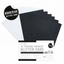 A5 Adhesive Glitter Sheets Black & White (DCGCD048)