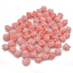 Stemless Foam Rose-heads - Peach (50pcs)