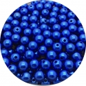 4mm Round Pearl Beads - Royal Blue (200 pack)