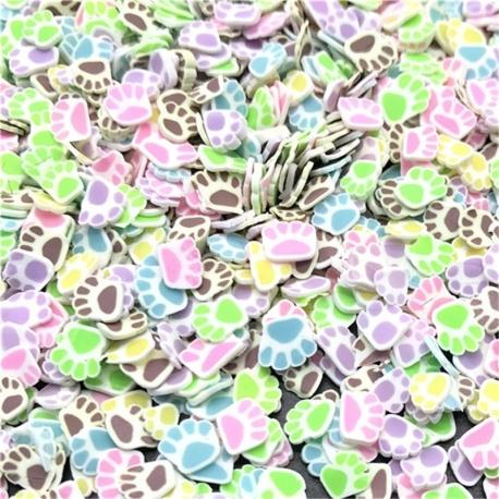 Polymer Clay Confetti Bag - Pawprint
