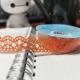 Self-adhesive Lace tape - Orange (14mm x 1m)