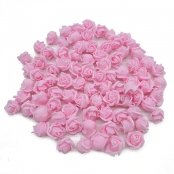 Stemless Foam Rose-heads - Pink (50pcs)