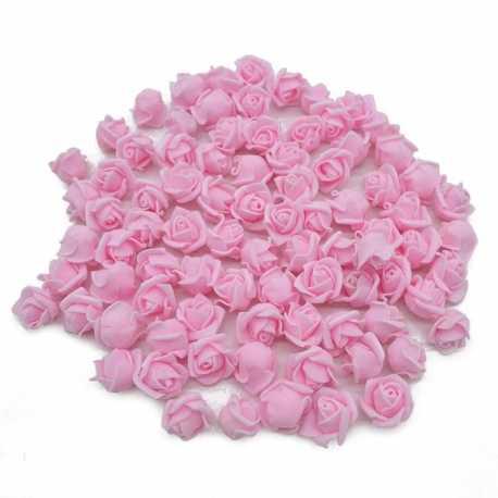 Stemless Foam Rose-heads - Pink (50pcs)