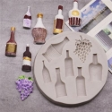 Small Silicone Mould - Wine Bottles