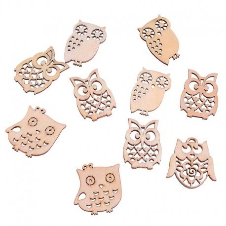 Wooden Owls (10pcs)