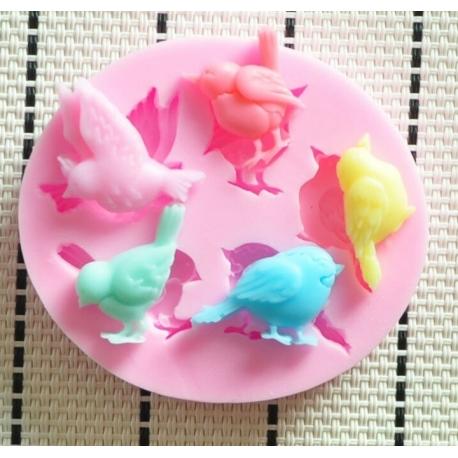 Small Silicone Mould - Birds
