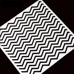 13 x 13cm Reusable Stencil - Zigzag (1pc)