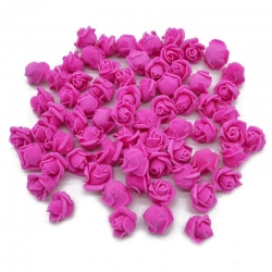 Stemless Foam Rose-heads - Fuchsia (50pcs)